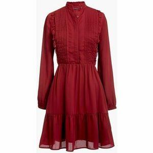 🎀Sale🎀 J Crew Ruffle Hem Pintuck Dress